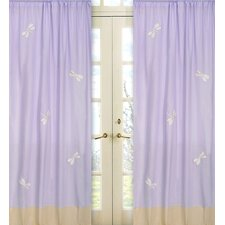 <strong>Sweet Jojo Designs</strong> Purple Dragonfly Dreams Cotton Curtain Panel (Set of 2)