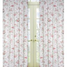 Riley's Roses Cotton Curtain Panel (Set of 2)