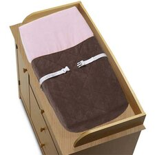 Soho Pink and Brown Collection Changing Pad Cover