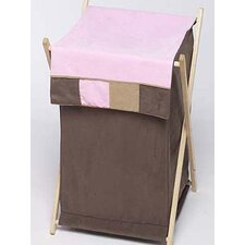 <strong>Sweet Jojo Designs</strong> Soho Pink and Brown Laundry Hamper
