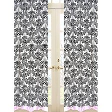 <strong>Sweet Jojo Designs</strong> Sophia Cotton Curtain Panel (Set of 2)