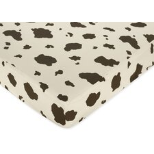 <strong>Sweet Jojo Designs</strong> Wild West Cow Print Fitted Crib Sheet