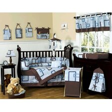 Geo Blue 9 Piece Crib Bedding Collection