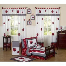 <strong>Sweet Jojo Designs</strong> Polka Dot Ladybug Toddler Bedding Collection 5 Piece Set