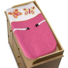 <strong>Sweet Jojo Designs</strong> Butterfly Pink and Orange Collection Changing Pad Cover