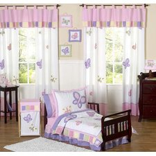 Butterfly Pink Purple Toddler Bedding Collection 5 Piece Set