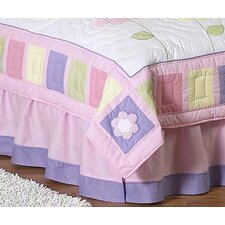 Butterfly Pink and Purple Queen Bed Skirt