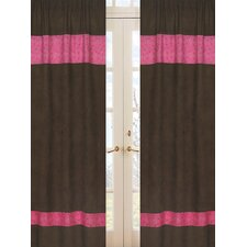Cowgirl Chocolate and Bandana Print Cotton Curtain Panel Pair