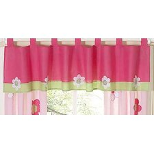 <strong>Sweet Jojo Designs</strong> Flower Pink and Green Cotton Curtain Valance
