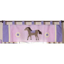 <strong>Sweet Jojo Designs</strong> Pony Cotton Curtain Valance