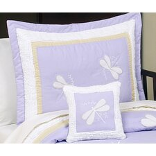 <strong>Sweet Jojo Designs</strong> Purple Dragonfly Dreams Standard Pillow Sham