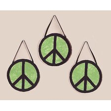 3 Piece Peace Green Collection Wall Hanging Set