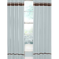Hotel Cotton Rod Pocket Curtain Panel Pair with Valances