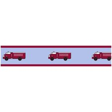Fire Truck Collection Wall Paper Border
