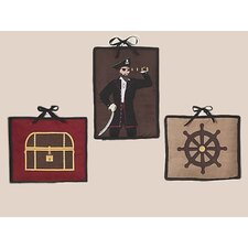 3 Piece Pirate Treasure Cove Collection Wall Hanging Set