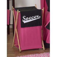 <strong>Sweet Jojo Designs</strong> Soccer Pink Laundry Hamper