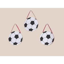 <strong>Sweet Jojo Designs</strong> Soccer Pink Collection Wall Hangings (Set of 3)