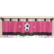 <strong>Sweet Jojo Designs</strong> Soccer Pink Curtain Valance