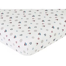 <strong>Sweet Jojo Designs</strong> Nautical Nights Fitted Crib Sheet