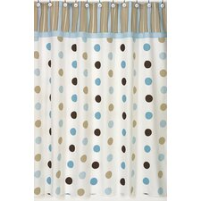 Mod Dots Cotton Shower Curtain