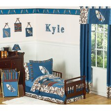 <strong>Sweet Jojo Designs</strong> Surf Blue and Brown Toddler Bedding Collection