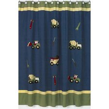 Construction Cotton Shower Curtain
