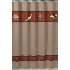 Dinosaur Land Microsuede Shower Curtain