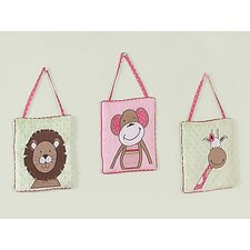 Jungle Friends Collection Hanging Art 3 Piece Set