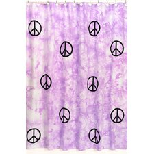 Peace Cotton Shower Curtain