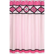 Soccer Cotton Shower Curtain