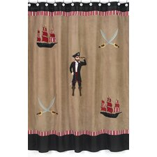 Pirate Treasure Cove Microsuede Shower Curtain