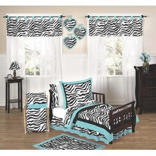 Zebra Turquoise Funky Toddler Bedding Collection