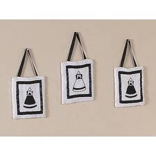 <strong>Sweet Jojo Designs</strong> Princess Black and White Collection Wall Hangings (Set of 3)