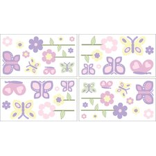Butterfly Pink and Purple Collection Wall Decal Stickers