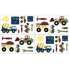 Construction Zone Wall Decal 4 piece set