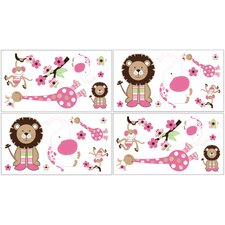 Jungle Friends Wall Decal 4 piece set