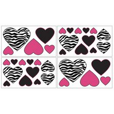Zebra Pink Collection Wall Decal Stickers