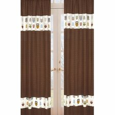 <strong>Sweet Jojo Designs</strong> Night Owl Rod Pocket Curtain Panel (Set of 2)