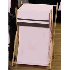 <strong>Sweet Jojo Designs</strong> Hotel Pink and Brown Laundry Hamper