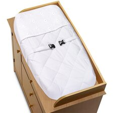 Eyelet White Collection Changing Pad Cover