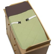 <strong>Sweet Jojo Designs</strong> Hotel Green and Brown Collection Changing Pad Cover