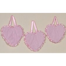 Chenille Pink Collection Wall Hangings (Set of 3)