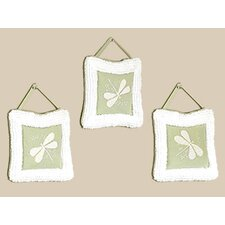 <strong>Sweet Jojo Designs</strong> Green Dragonfly Dreams Collection Wall Hangings
