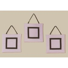 <strong>Sweet Jojo Designs</strong> Hotel Pink and Brown Collection Wall Hangings