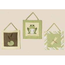 3 Piece Leap Frog Hanging Art Set