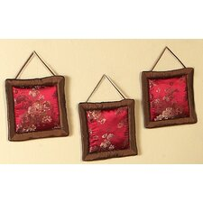 3 Piece Oriental Garden Collection Wall Hangings
