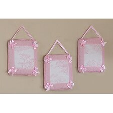 <strong>Sweet Jojo Designs</strong> Pink Toile Collection Wall Hangings (Set of 3)