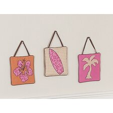 Surf Pink Collection Wall Hangings 3 Piece Set