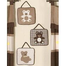 <strong>Sweet Jojo Designs</strong> Teddy Bear Chocolate Collection Wall Hangings
