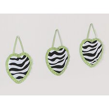 3 Piece Zebra Wall Hanging Set